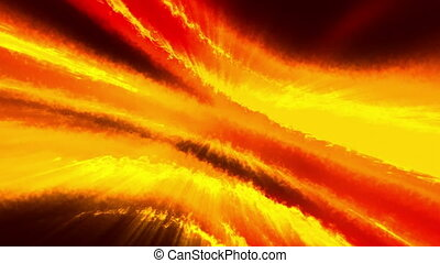 Orange red and black energy VJ looping abstract animated...