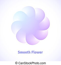 Logo of smooth colored flower with transparent petals for...