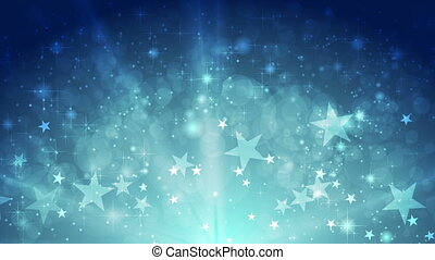 Blue shiny sparkling video animation with stars - Blue shiny...