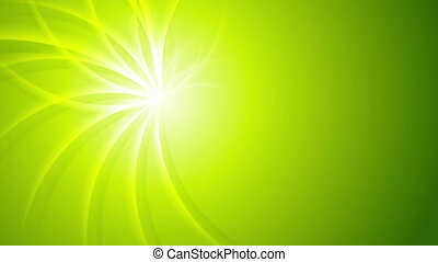 Green shiny beams pattern video animation