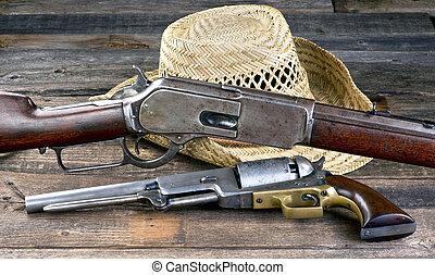 Wild West Guns. - Antique guns that won the wild west.