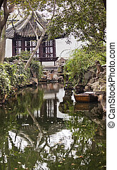 Ancient Chinese Pagoda House, Boat Garden of the Humble...