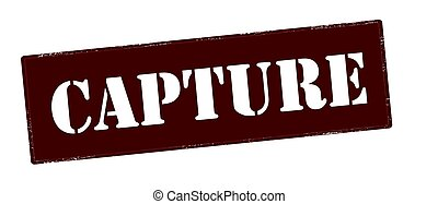 Capture - Stamp with word capture inside, vector...