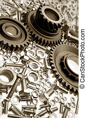 Steel parts - Steel gears, nuts and bolts
