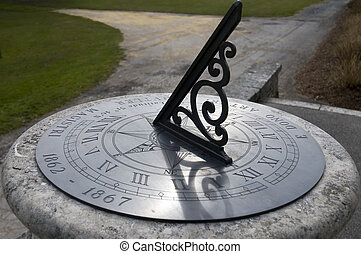 Sundial - An old sundial showing the time