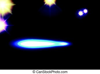 Vector disco background with spotlights and light spots