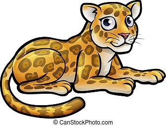 Leopard or Jaguar Cartoon
