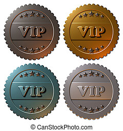 VIP Seals (set of 4) - A set of four metallic seals with...
