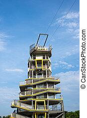 Modern Jumping tower at Chiang Rai province.