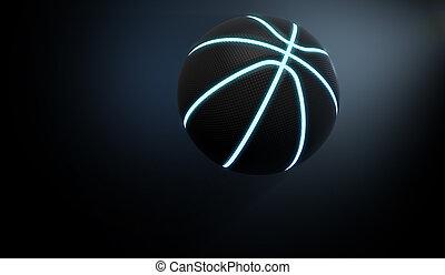 Futuristic Neon Sports Ball