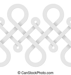 Endless abstract white background - Vector background with...