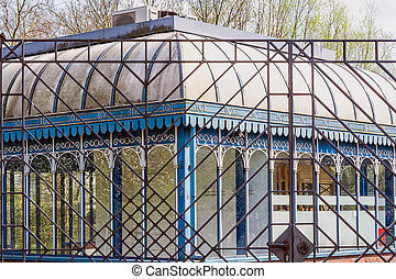 Tourainer pavilion in the city park of the city of Muelheim...