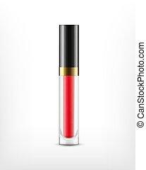 Lip gloss in glass bottle