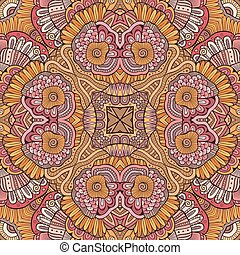 Abstract vector decorative ethnic seamless pattern -...