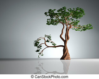 Bonsai - this is a 3d render illustration