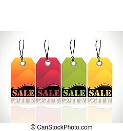 abstract glossy tags
