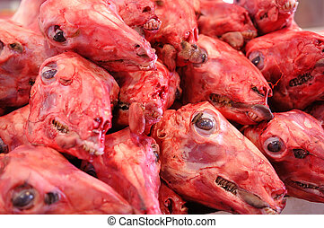 Skinned Sheep Heads