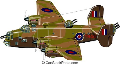Cartoon retro bomber - Vector cartoon retro bomber plane....