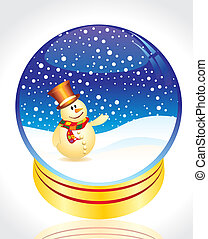 abstract glossy christmas ball vector illustration