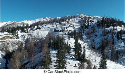 Scenic landscape of the highest alpine climatic resort in...