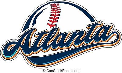 ATLANTA BASEBALL - Baseball ball with atlanta writing.