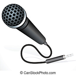 abstract musical mic vector