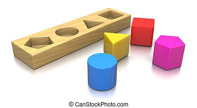Problem Solving Concept - Colorful 3D Geometric Shapes...