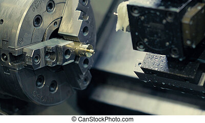 CNC milling machine - Close up of CNC milling machine