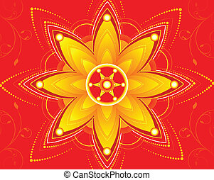 diwali floral background vector illustration