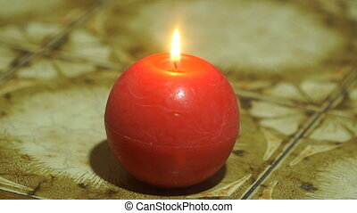 the candle goes out on the table