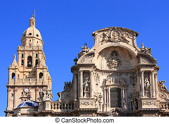 Murcia - Cathedral Church of Saint Mary in Murcia. Gothic...