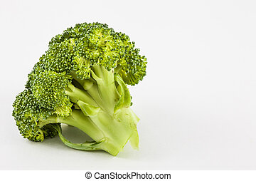 Broccoli (Brassica oleracea) isolated in white background