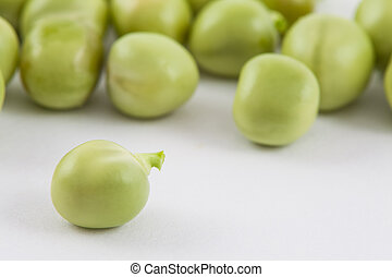 Peas (Pisum sativum) isolated in white background