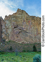 Sunrise view of Smith rock State Park in Oregon