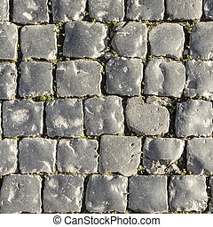 background of harmonic cobble stones in grey