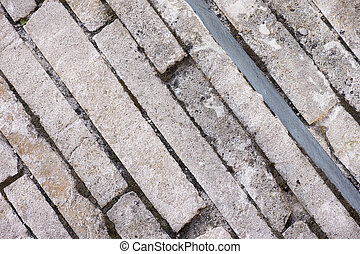 Road of stone blocks - Background of road with stone blocks....