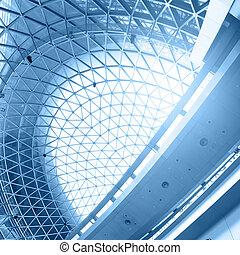 Abstract architectural background - Geometric ceiling -...