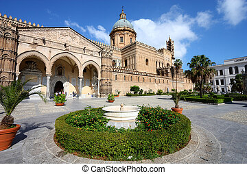 Palermo, Sicily island in Italy Famous cathedral church