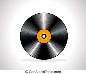 abstract musical cd vector illustration