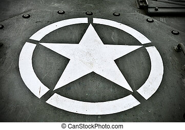 US Military Star - Star symbol on the hood of a US military...