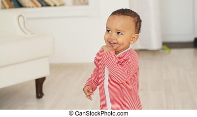 Happy Mixed Race Baby Boy - Happy smiled Mixed Race Baby Boy