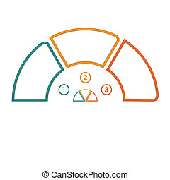 Semicircle template infographic 3 positions - Infographic...
