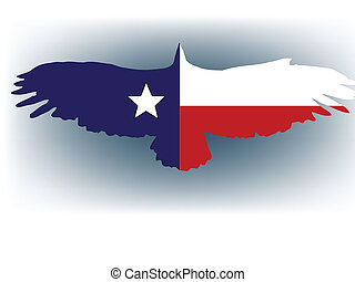 texas eagle - vector illustration abstract texas flag