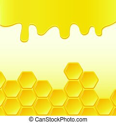 Abstract background with honeycomb. Vector illustration