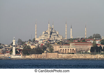 Sultanahmet Blue Mosque in Istanbul City, Turkey