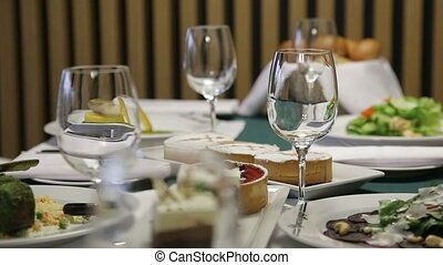 Dishes On The Table In a Restaurant