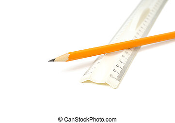 pencil and ruler