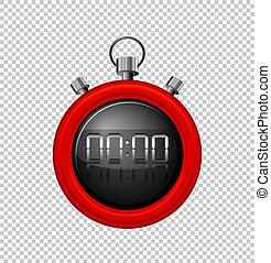 Stopwatch with red border illustration