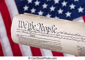 United States Constitution - United States constitution with...