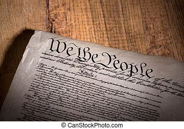 United States Constitution - United States constitution on a...